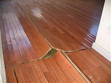hardwood floor buckled water walking on water