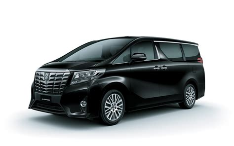 Toyota Alphard by Toyota Alphard Hybrid Mpv Black Color Side View Hd