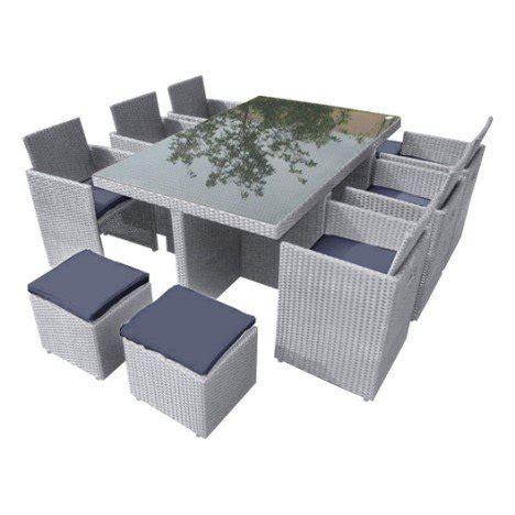 stunning salon de jardin tresser salon jardin portovecchio résine plastique gris 1 table