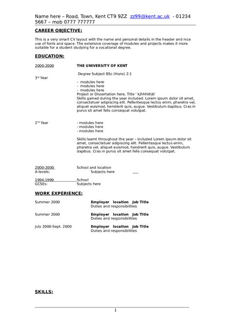 resume objective exles how to write a resume