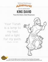 David King Bible Coloring Printable Worksheet Pages Activities Copy Activity Biblepathwayadventures Pathway Adventures Lessons November Psalms Torah sketch template