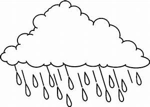 Best Photos of Rain Clip Art Outline - Black and White ...