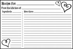 4 best images of free printable 3x5 recipe cards templates With 3x5 printable labels