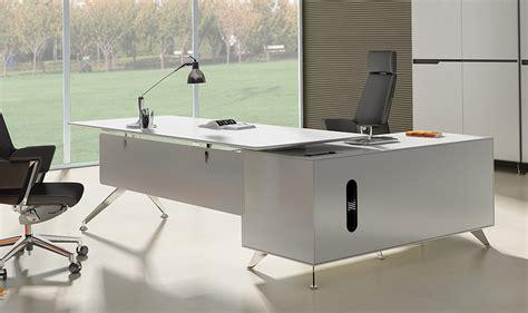 white executive office desk arundel white modern executive desk with left return