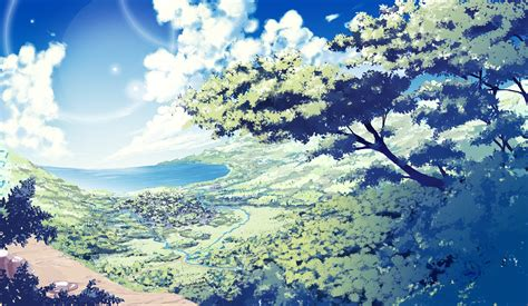 Anime Illustration Wallpaper - anime nature wallpaper 77 images