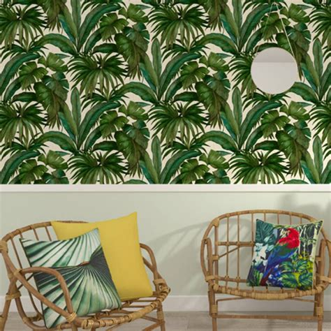 versace giungla palm leaves luxury metallic wallpaper