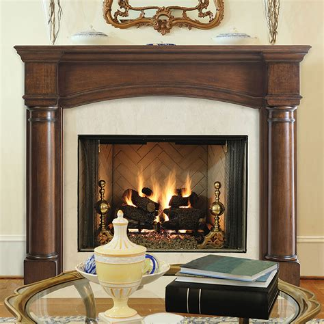 fireplace mantel surrounds edinburgh 48 in x 42 in wood fireplace mantel surround