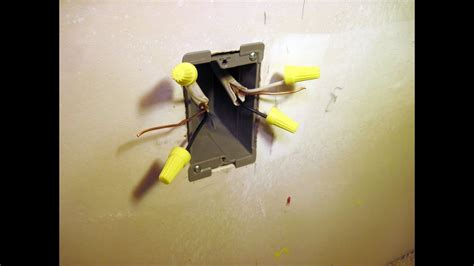 How to Install a Drywall Electrical Box - YouTube