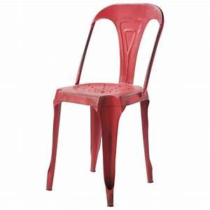 Chaise Tolix Maison Du Monde : chaise indus en m tal rouge multipl 39 s maisons du monde ~ Melissatoandfro.com Idées de Décoration