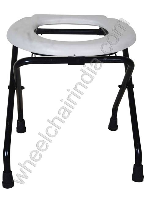 Folding Commode Stool by Folding Commode Stool Toilet Seat Stand For Handicap