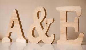 Large wooden letters personalised word letter name for Personalised mr and mrs letters