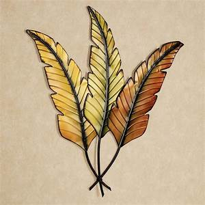 Banana leaves metal wall art