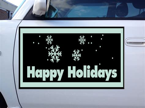 car door magnets happy holidays corrugated car door magnets magnetic signs