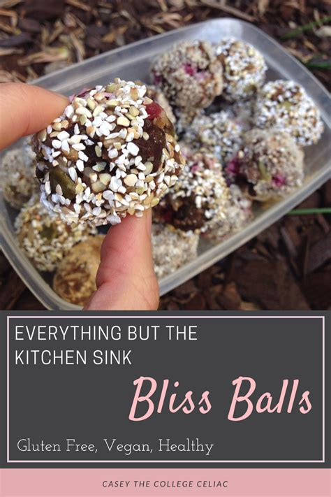 everything but the kitchen sink recipe everything but the kitchen sink bliss balls gluten free 9651