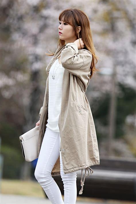 Womens Beige Parka Coat | Han Coats