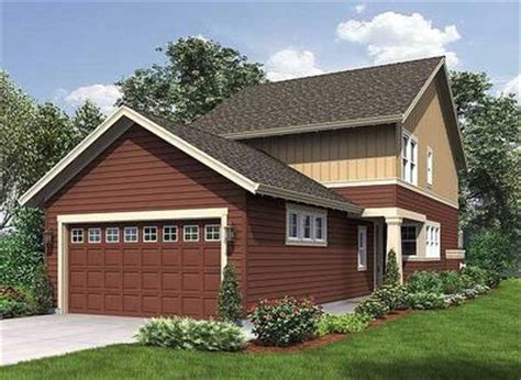 Narrow Lot House Plans With Rear Garage by Narrow Home Plan With Rear Garage 69518am