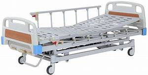 Adjustable Manual Hospital Bed With 3 Crank   Semi Fowler