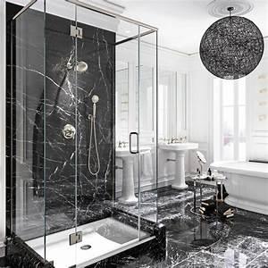 Salle De Bain Marbre Blanc : le luxe du marbre noir dans la salle de bain salle de bain inspirations d coration et ~ Nature-et-papiers.com Idées de Décoration