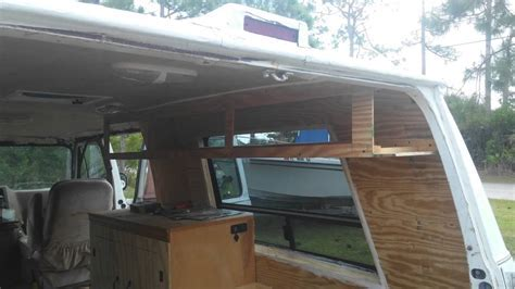 Campervan Build 5   Kitchen Vanity & Custom Overhead