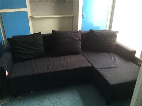 ikea lugnvik sofa bed  storage black reduced