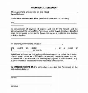 room rental agreement 17 download free documents in pdf With room for rent agreement template free