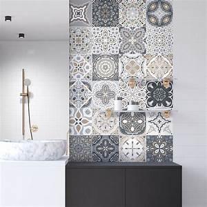Stickers Carreaux De Ciment Cuisine : 9 stickers carreaux de ciment azulejos orfeo cuisine ~ Melissatoandfro.com Idées de Décoration