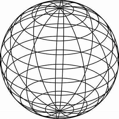 Globe Sphere Clipart Mesh Line Esfera Wire
