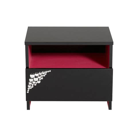le de chevet ado table de chevet adolescent 1 tiroir noir et fus achat vente chevet table de chevet