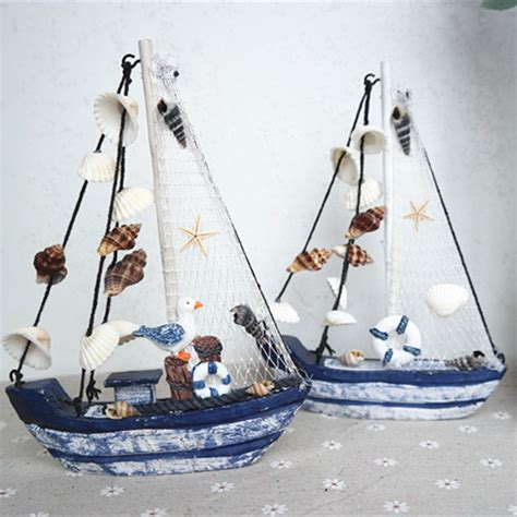 wood sailboat wall decor aliexpress buy wood boat craft mediterranean style