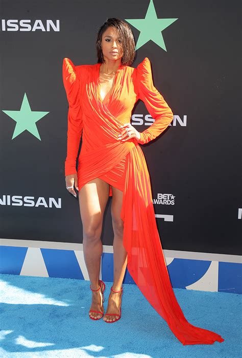 Ciara Is Red-Hot & More Monochromatic Outfits at 2019 BET ...