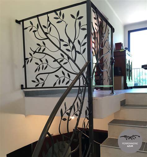 rambarde d escalier en fer forge re d escalier sur mesure en fer forg 233 cote d azur