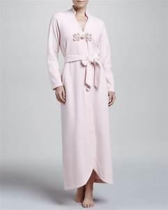 la perla gitana long fleece robe rosa in pink rosa lyst With robe la perla