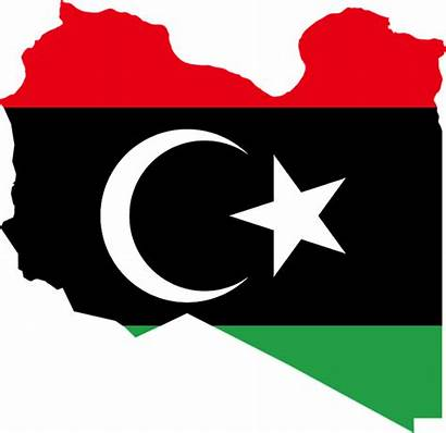 Flag Libya Libija Libia Libye Negara Mapa