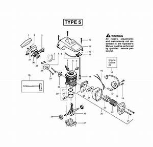 Mcculloch Mac 325  952802153  Chainsaw Engine Spare Parts Diagram
