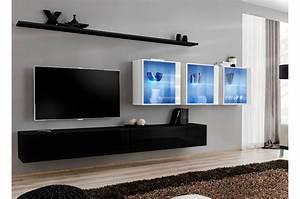 Meuble Tv Suspendu But : meuble tv moderne suspendu costa 17 cbc meubles ~ Teatrodelosmanantiales.com Idées de Décoration