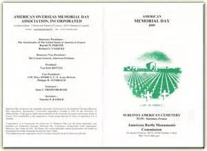 Memorial Day Ceremony Program