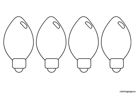 templates christmas light bulb coloring pages
