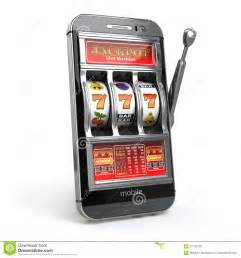 how to a slot machine with a cell phone casino concept mobile phone and slot machine with