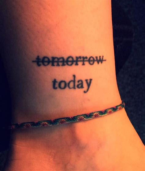 cool ankle word tattoo creativefan