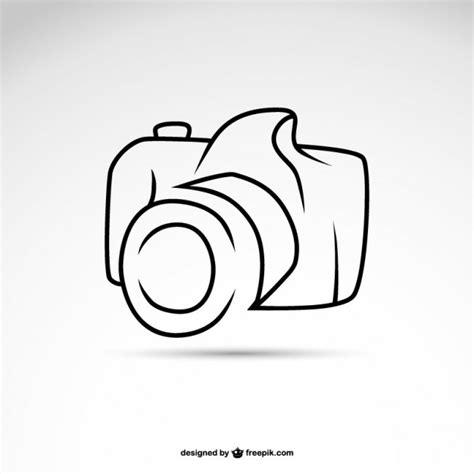 art camera symbol logo template vector  vector
