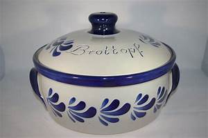 Ton Keramik Unterschied : brottopf rund grau blau bembel shop keramik seifert ~ Markanthonyermac.com Haus und Dekorationen