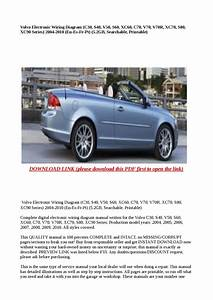 Volvo C30 S40 V50 C70 2009 Electrical Wiring Diagram Manual Instant