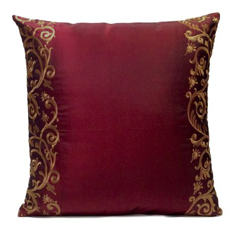 Throw Pillows by Burgundy Pillow Throw Pillow Cover Decorative Pillow Cover