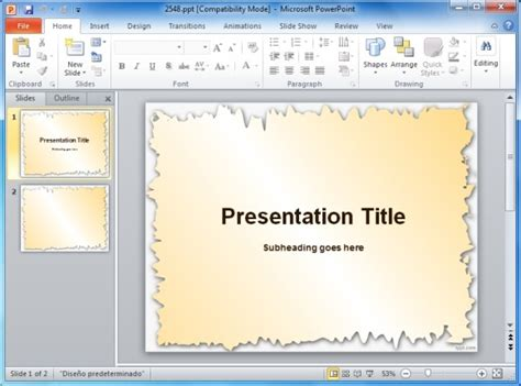 How To Add Template In Powerpoint by Page Borders For Powerpoint Presentations
