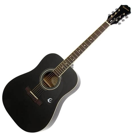 Epiphone DR100 Acoustic Guitar - Black | Rich Tone Music