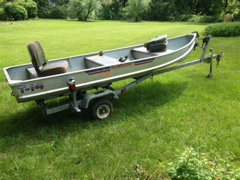 Alumacraft Boats For Sale In Ct by Alumacraft T 14 Cox Trailer Oars Trolling Motor Fish