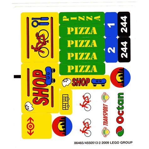 Lego White Sticker Sheet For Set 7641 (86465)  Brick Owl