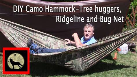 Hammock Mosquito Net Diy by Diy Camo Cing Hammock Tree Huggers Ridgeline And Bug