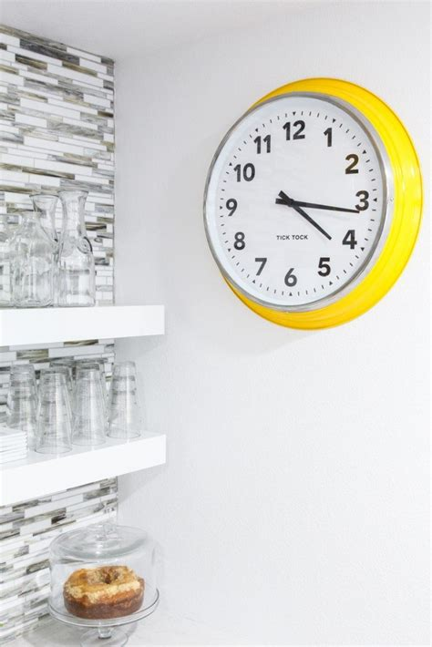 make your own clock ikea large wall clock makeover classy clutter