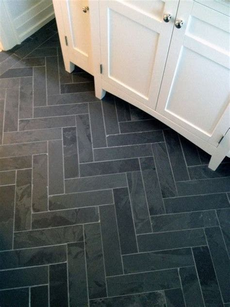 grey herringbone mosaic tile grey bathroom floor